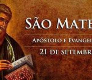 A igreja católica celebra hoje a festa litúrgica de São Mateus