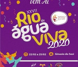 Confira a programação do XXVII Rio de Àgua Viva