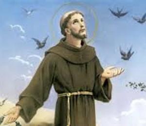 A igreja católica celebra São Francisco de Assis