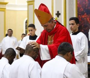 Ordenação diaconal na catedral Nossa Senhora de Nazaré